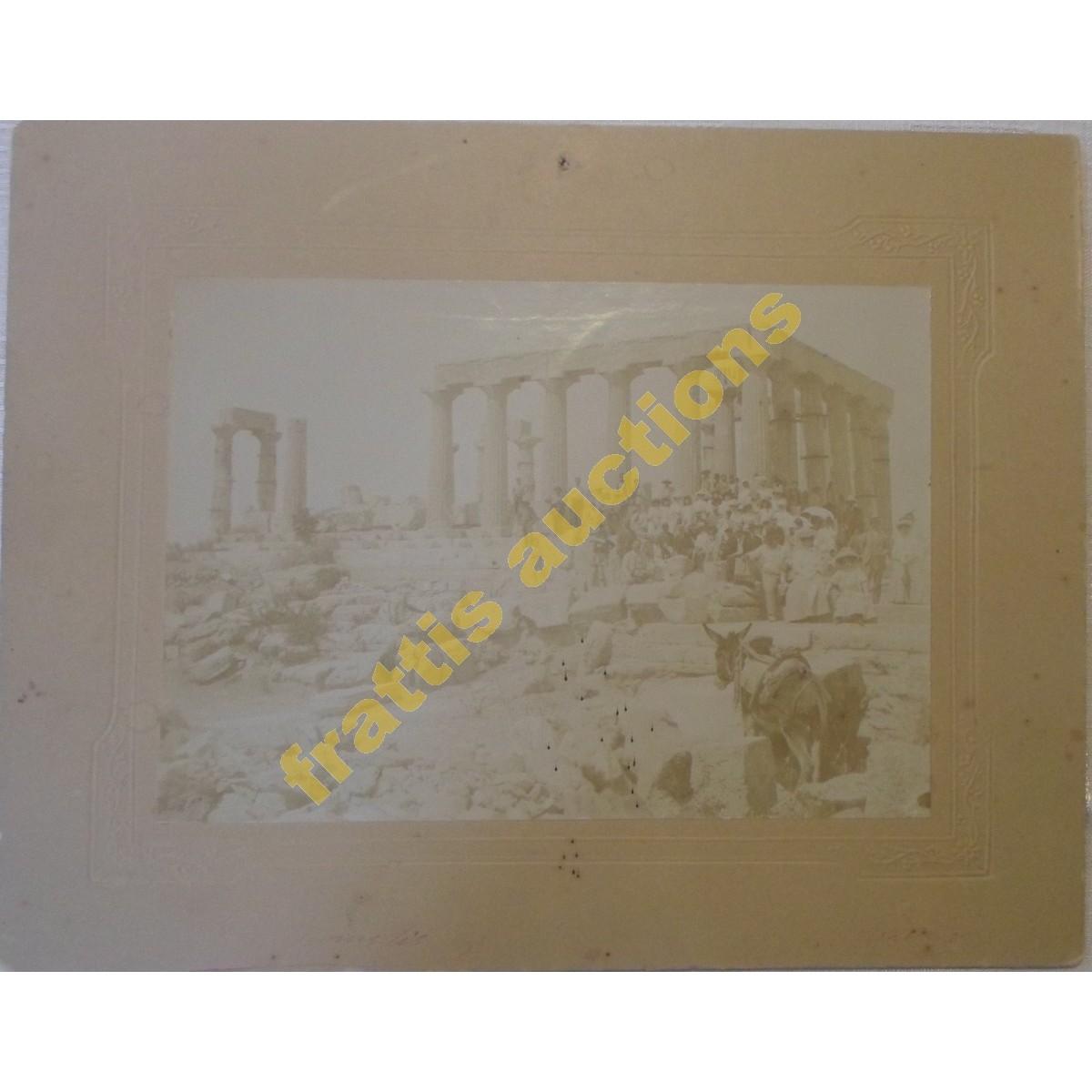Ναός Αφαίας Αθηνάς Αίγινα, τέλη 19ου - αρχές 20ού αιώνα