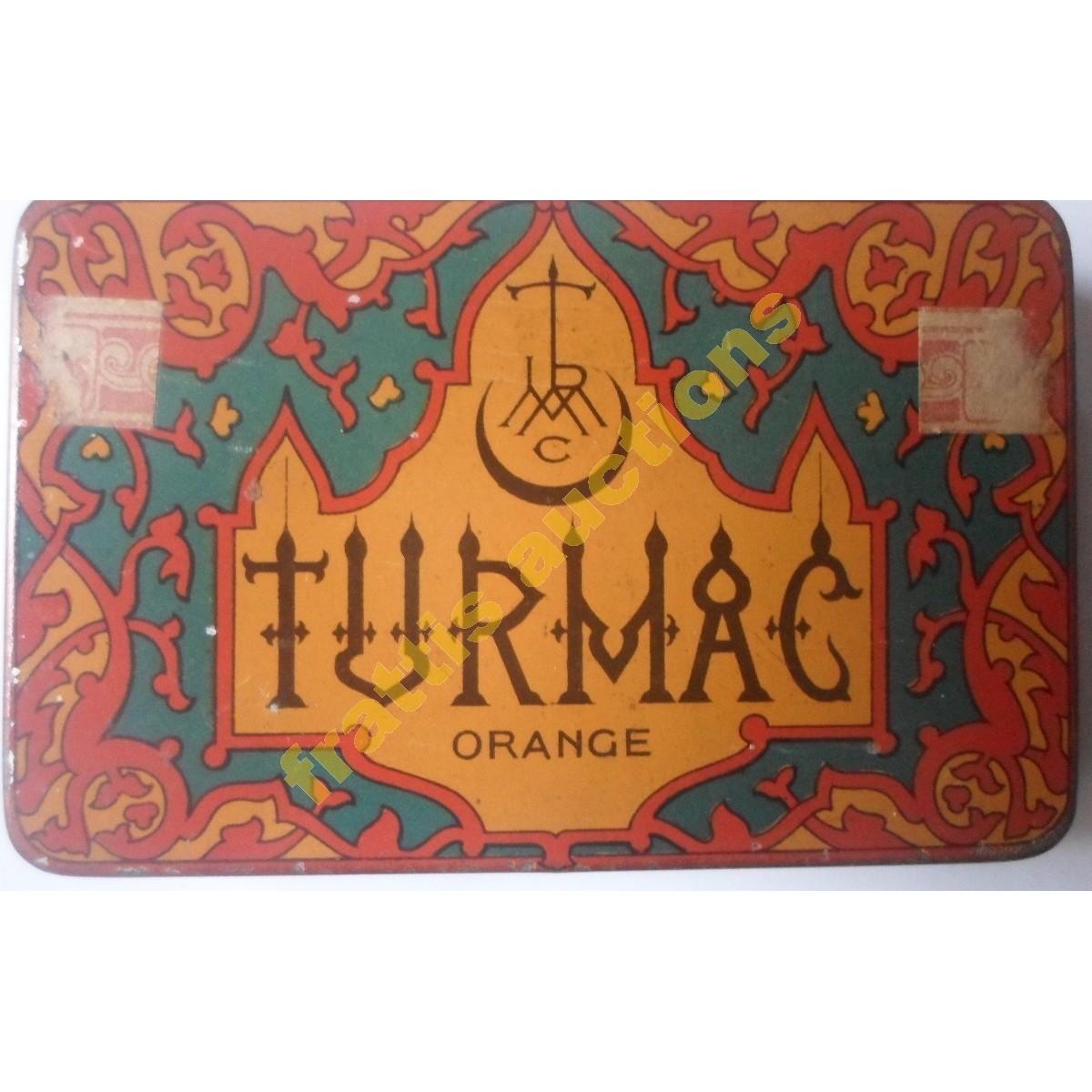 TURMAC ORANGE, παλιό μεταλλικό κουτί των 25 τσιγάρων.