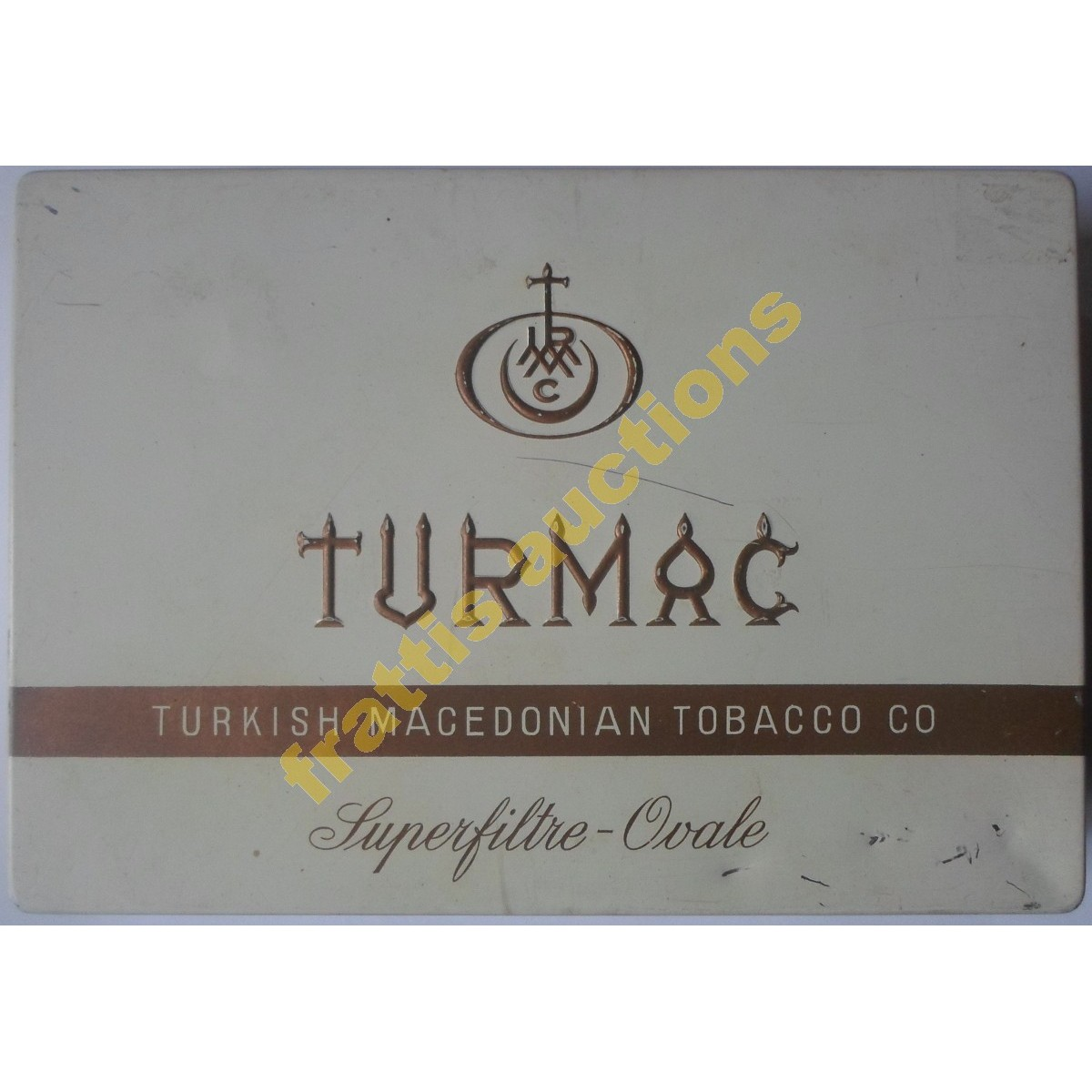 TURMAC Turkish Macedonian Tobacco Co, παλιό μεταλλικό κουτί των 100 τσιγάρων φίλτρου.
