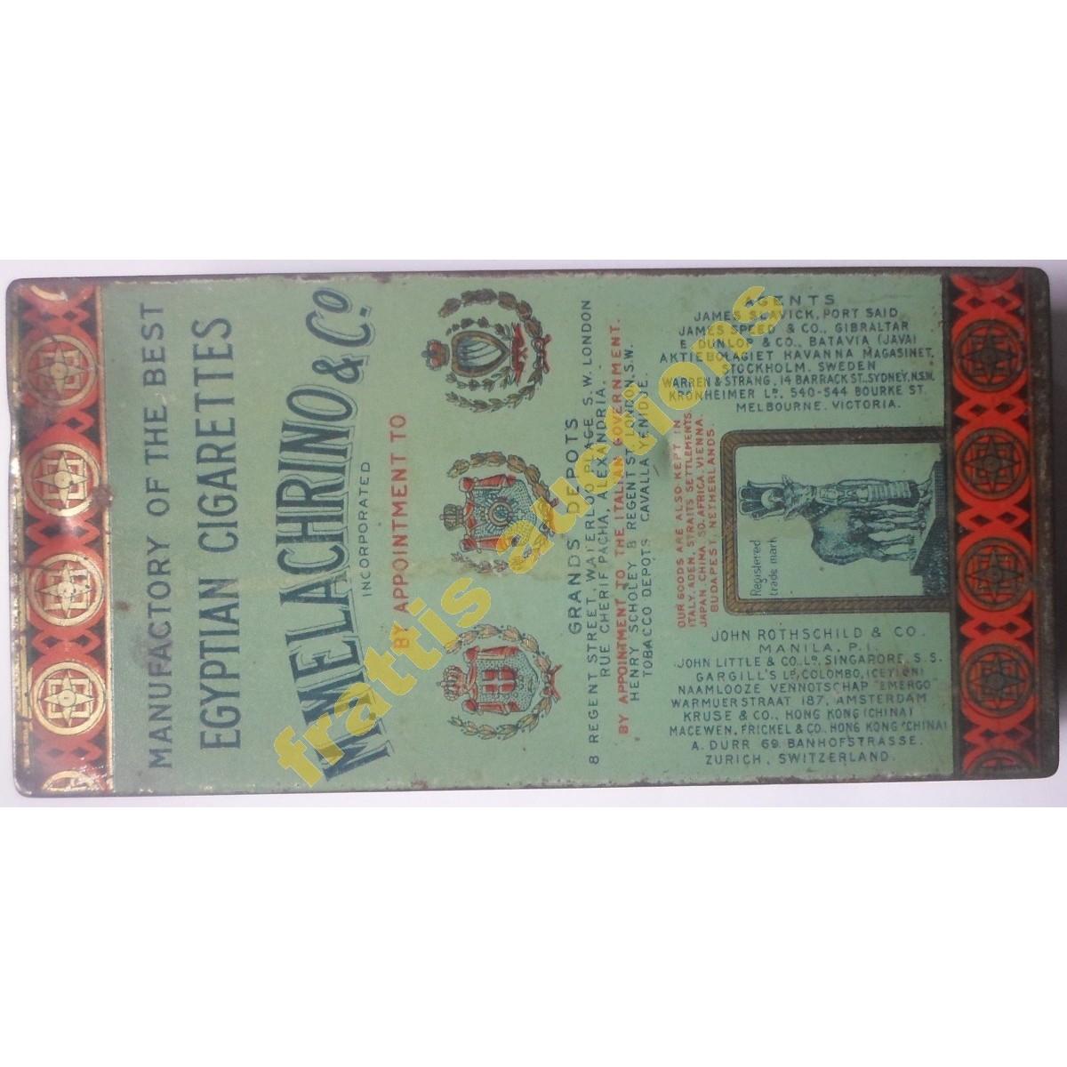"""50 τσιγάρα μεταλ. κουτί  """"M.MELACHRINO & Co"""" Caire - N.York."""
