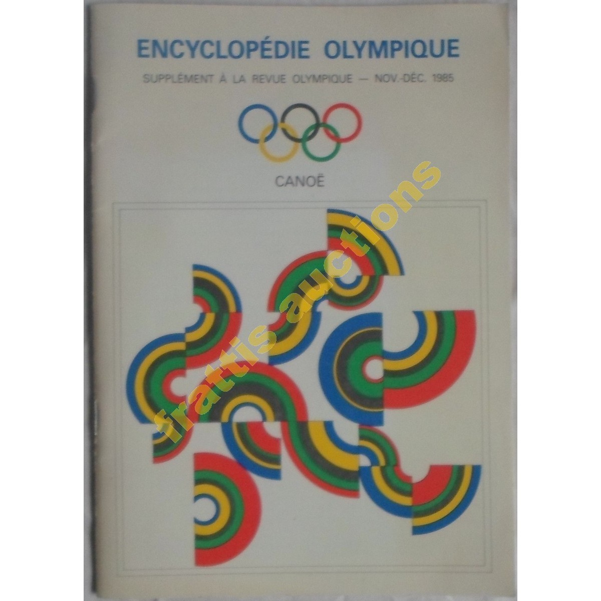 Encyclopedie Olympique, Canoe, Νοεμ.-Δεκ. 1985