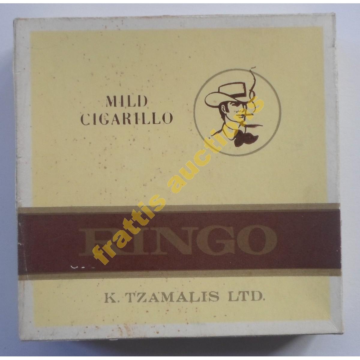 Vintage χάρτινο πακέτο των 20 cigarillos , Ringo, Ελλάδα. K TZAMALIS LTD