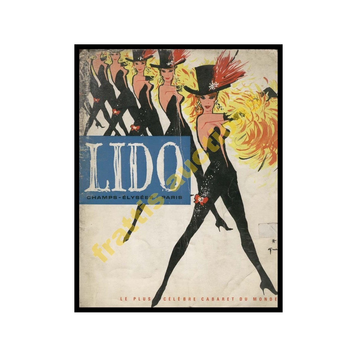 LIDO PARIS, πρόγραμμα Δεκέμβριος 1962.