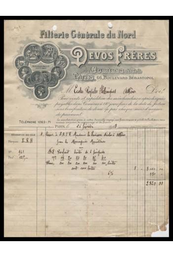 DEVOS FRERES Επιστολή 1913.