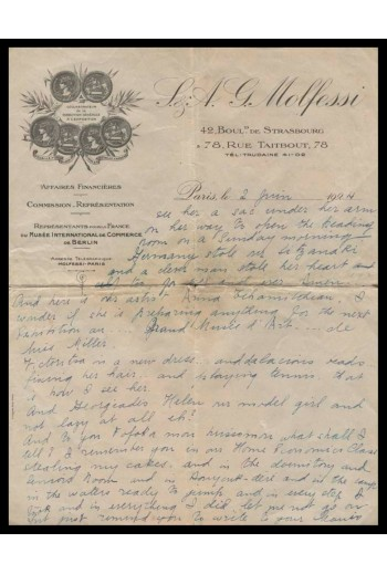 I.A.G.MOLFESSI, Επιστολή...