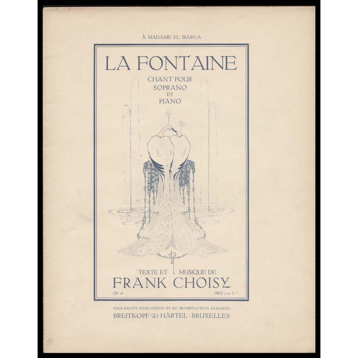 La Fontaine, για Πιάνο και Σοπράνο, από Frank Choisy.