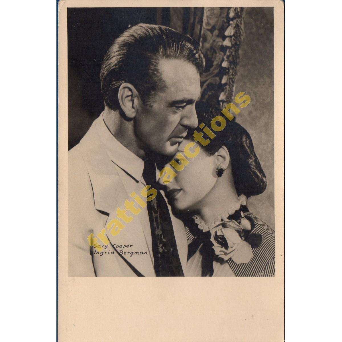 Φωτογραφία -καρτ ποστάλ του Γκάρυ Κούπερ και της Ίνγκριντ Μπέργκμαν.