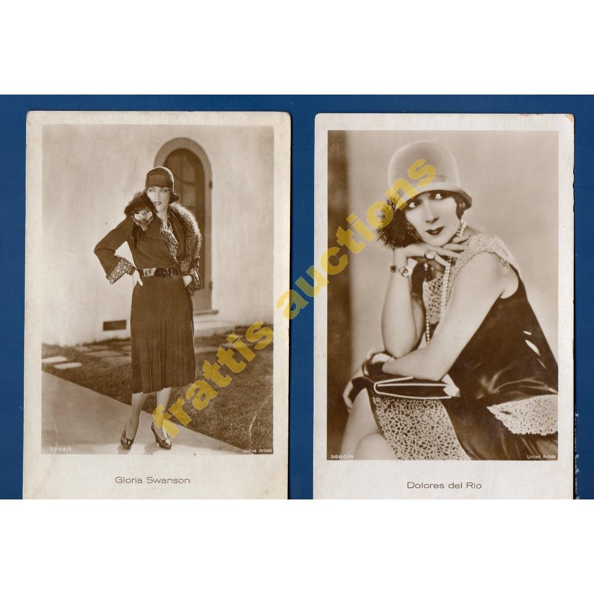 Δύο Φωτογραφίες Γκλόρια Σουάνσον & Ντολόρες ντελ Ρίο.