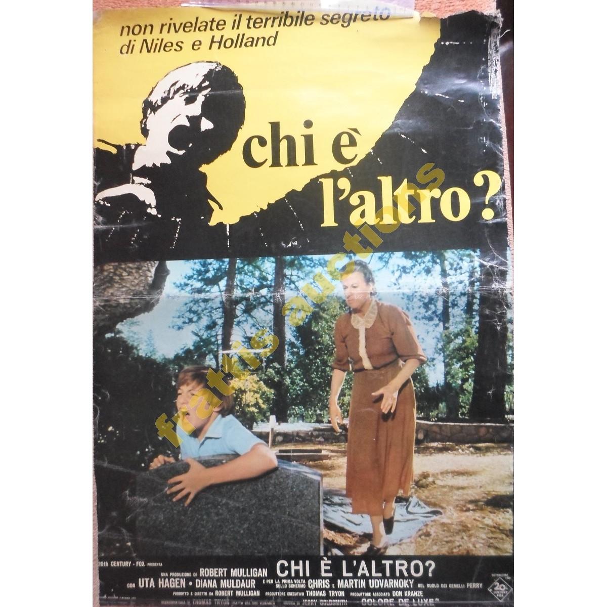 """Αφίσσα σε πανί της τανίας """" The Other"""" 1972 στα Ιταλικά."""