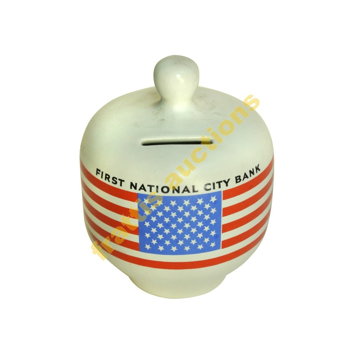 FIRST NATIONAL CITY BANK. Κεραμικός κουμπαράς
