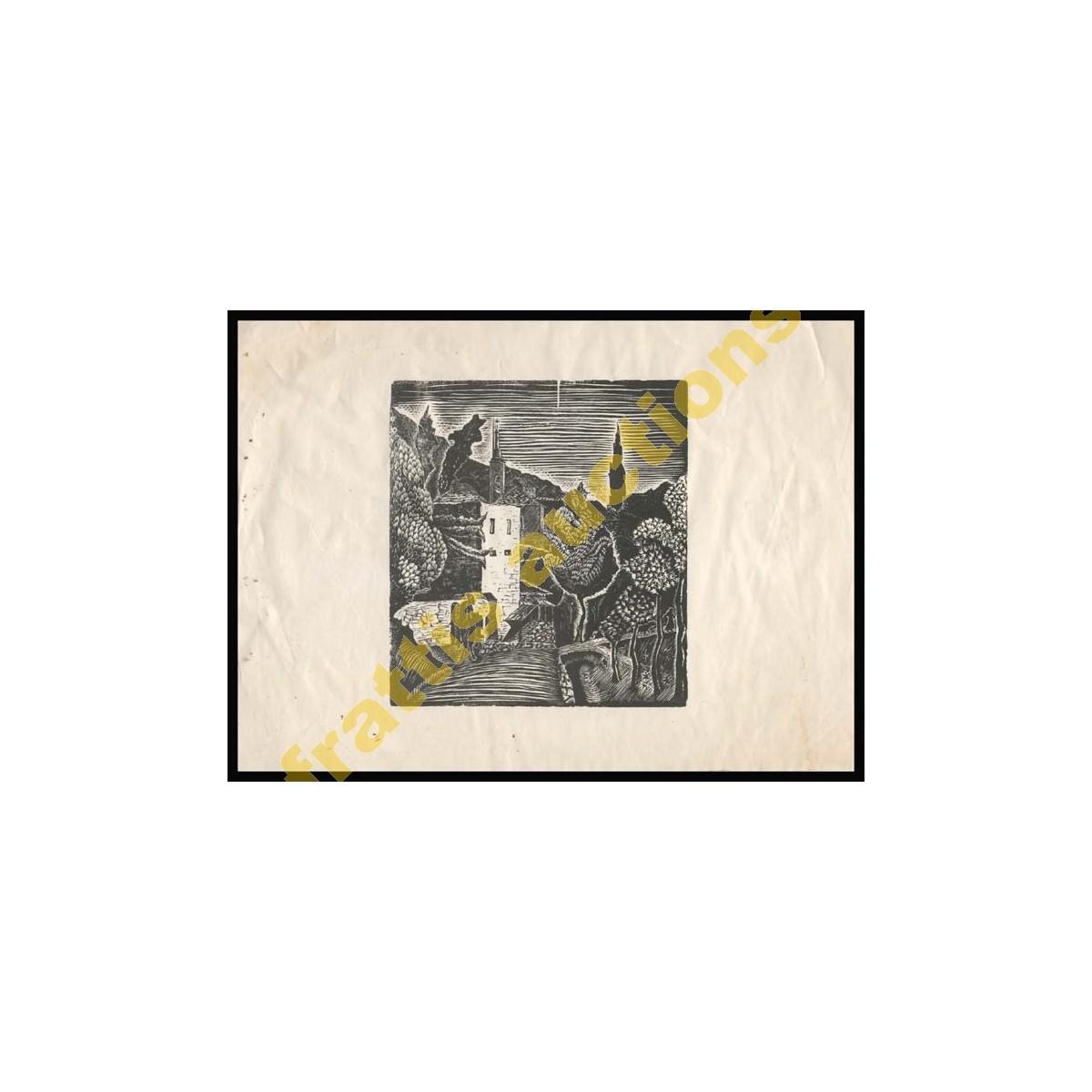 ΜΑΚΡΥΝΙΤΣΑ Ξυλογραφία ΝΙΚΟΛΑΣ (Νικ. Παυλόπουλος 1909-1990