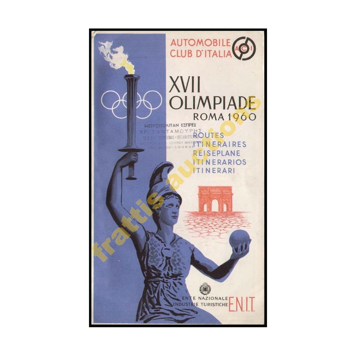 12η Ολυμπιάδα, Ρώμη 1960, Χάρτης διαδρομών.