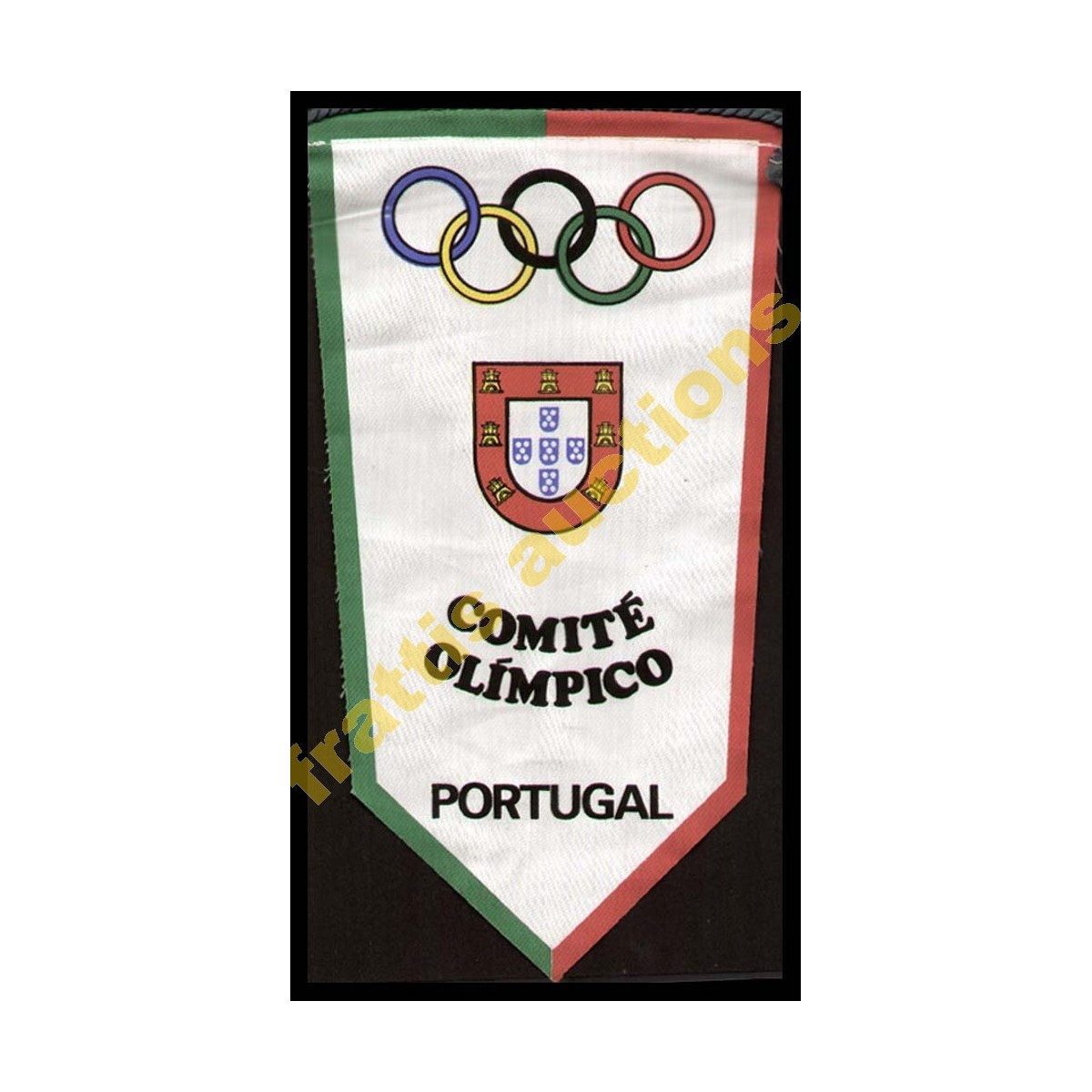 PORTUGAL - National Olympic Committee (NOC) Baner  Μικρό πανό Ολυμπιακή Επιτροπή της Πορτογαλίας.