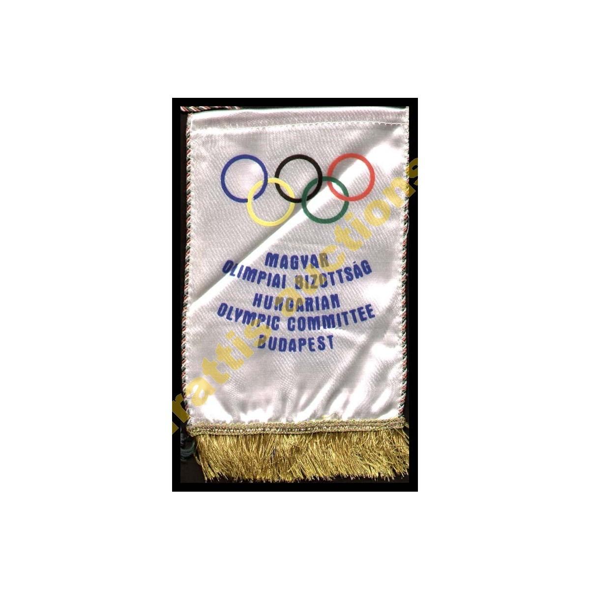 HUNGARIAN - National Olympic Committee (NOC) Baner Ολυμπιακή Επιτροπή Ουγγαρίας. Μικρό πανό Ολυμπιακή Επιτροπή της Βουδαπέστης.