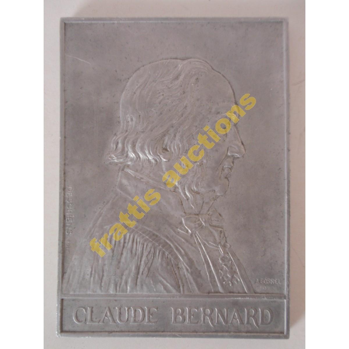 "1913 ""PROFESSEUR CLAUDE BERNARD"", αναμνηστική πλάκα."