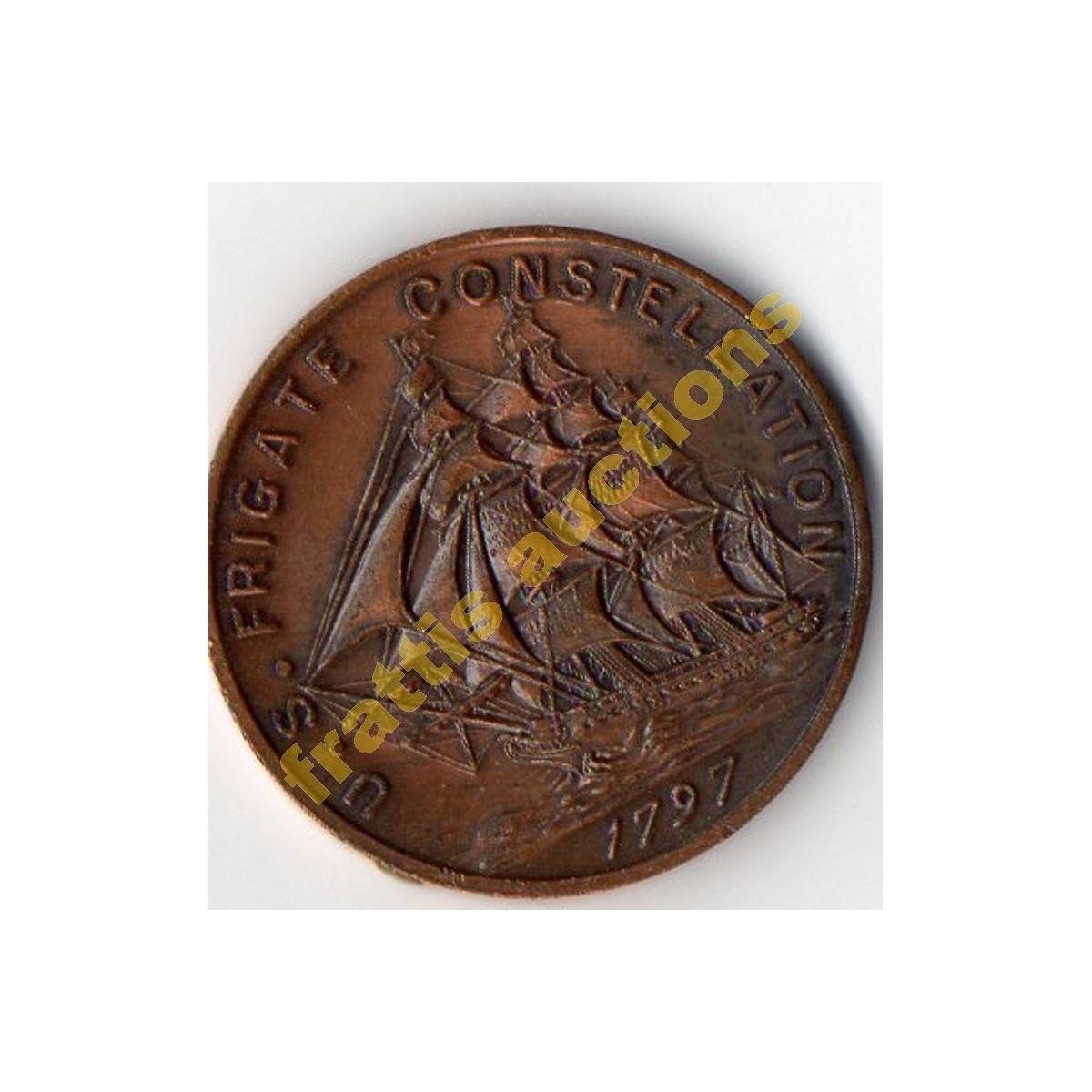 US Frigate Constellation 1797,αναμνηστικό νόμισμα.