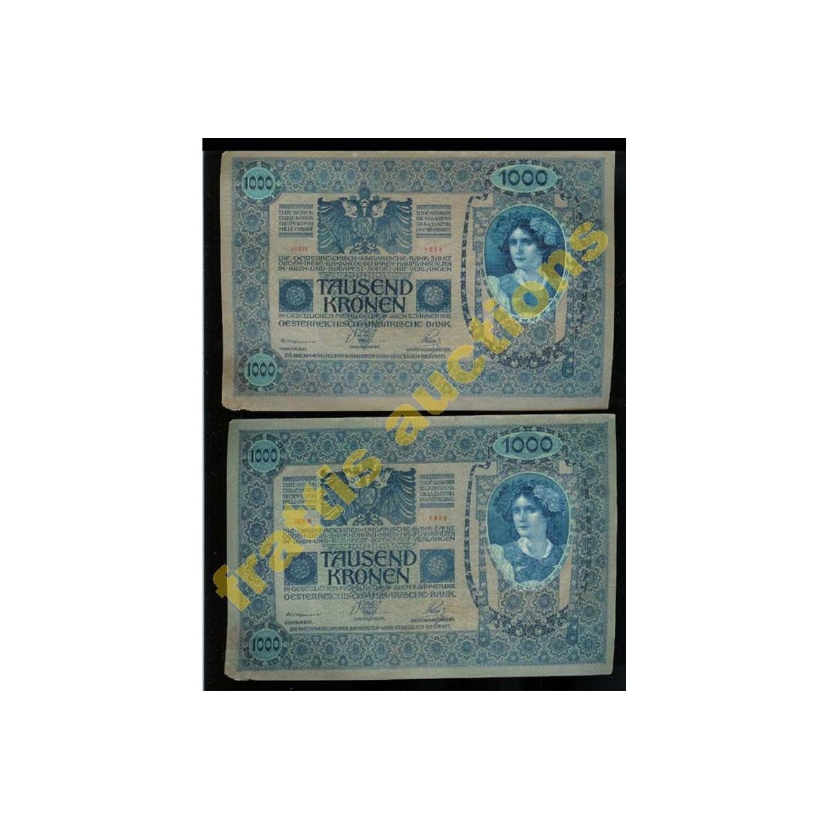 Αυστροουγγρική Τράπεζα χαρτονόμισμα 1.000 κορώνων,1902.