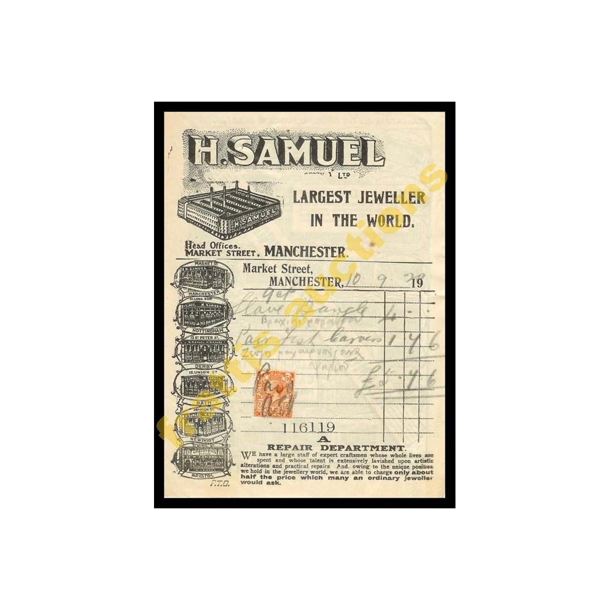 H.SAMUEL Κοσμηματοπωλεία, απόδειξη πληρωμής