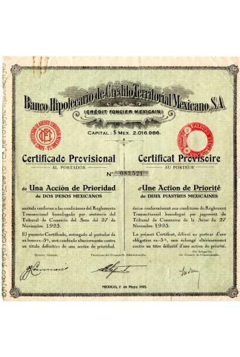 Ομόλογο τράπεζας Μεξικού 1923.