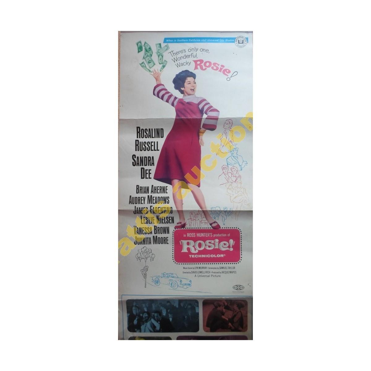 """Ρόζαλιντ Ράσσελ- Σάντρα Ντι """"ROSIE"""" 1967, αφίσα."""