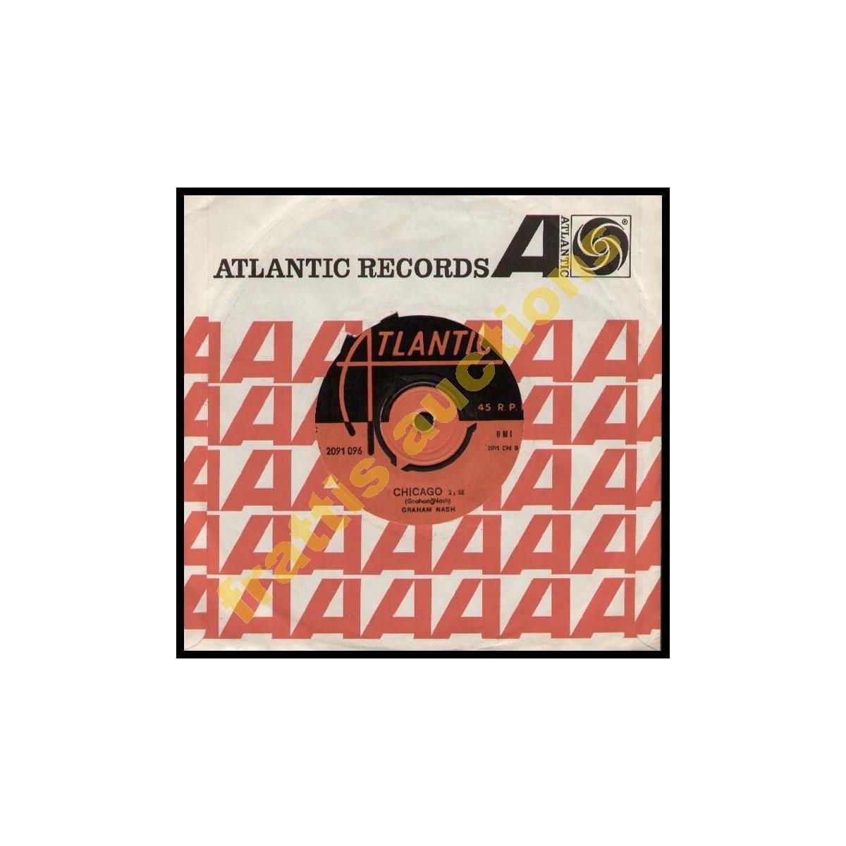 45--GRAHAM NASH, SIMPLE MAN / CHICAGO. Atlantic Records.