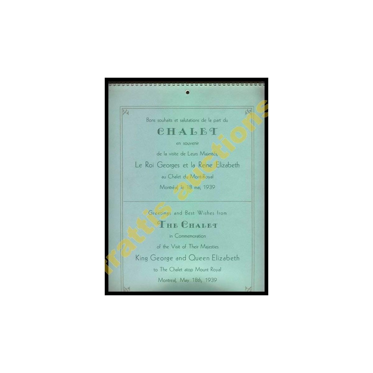 Ημερολόγιο 1940 The CHALET. Βασίλισσα Ελισσάβετ, 18 Μαϊου 1939.