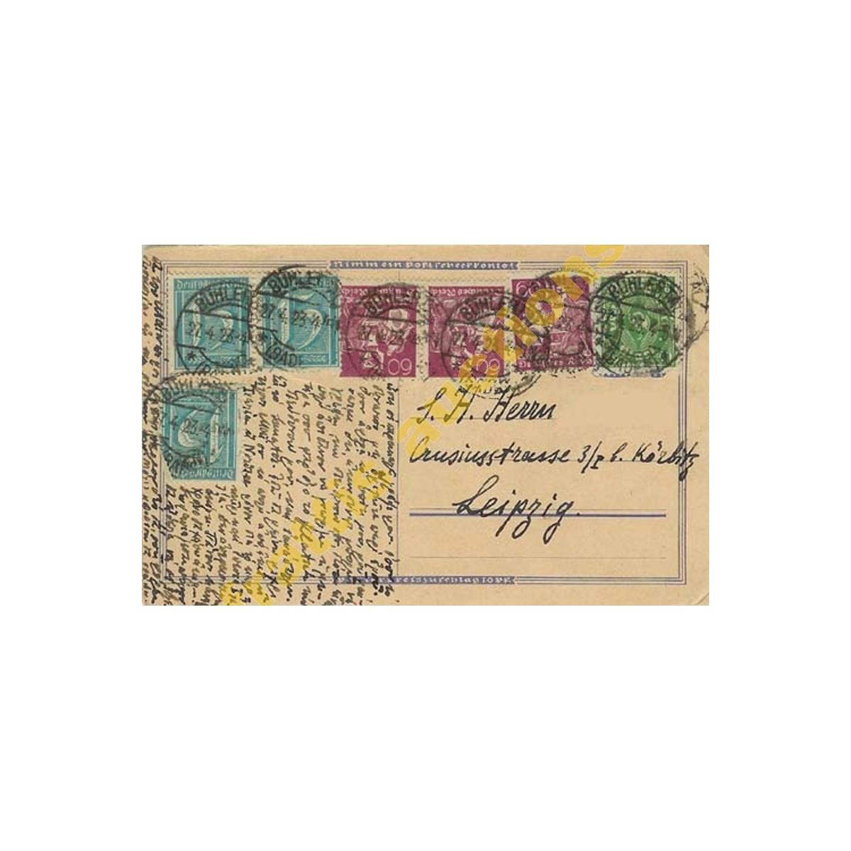 Επιστολική κάρτα προς Λ. Ευταξία Λειψία.