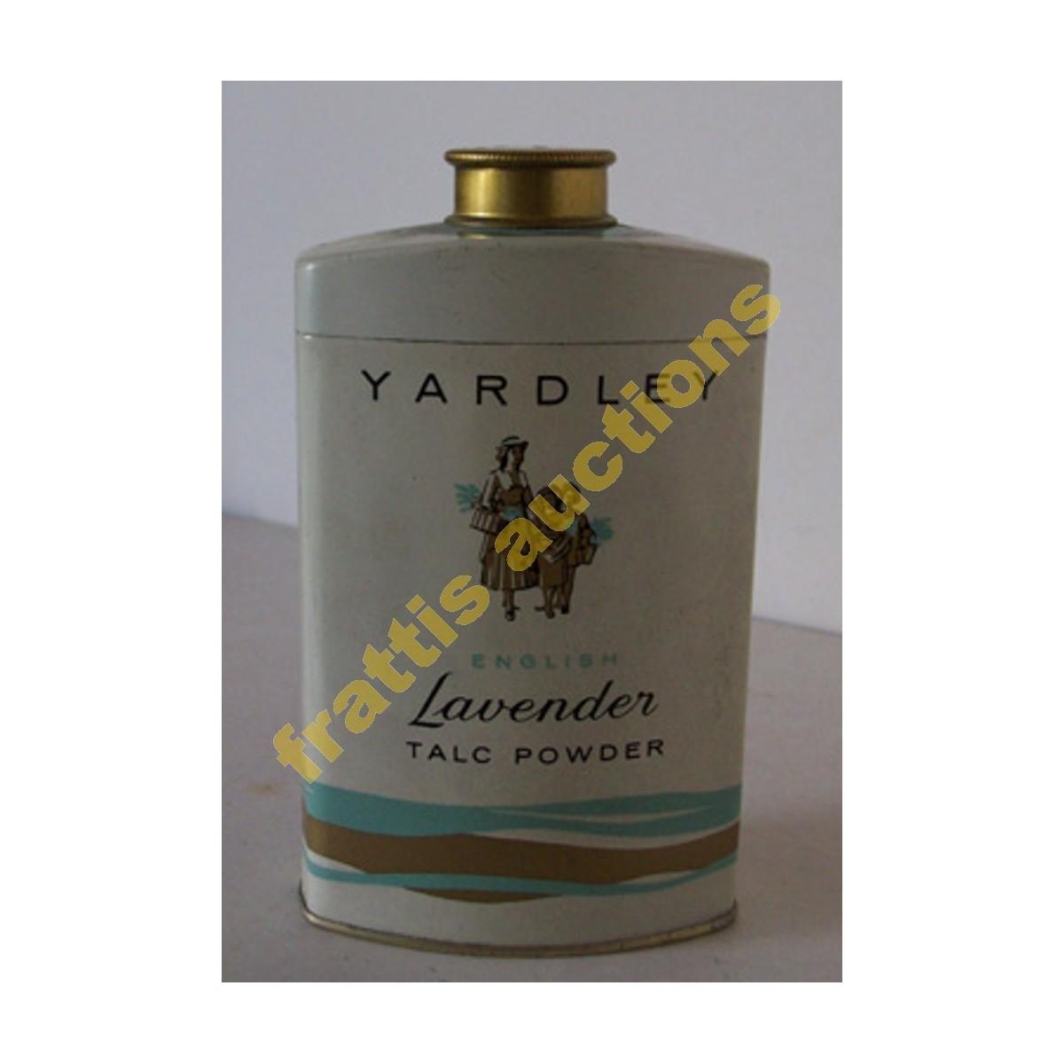 Μεταλλικό κουτί ταλκ Yardley lavender.