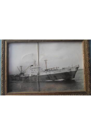 Φωτογραφία πλοίου σε κορνίζα.