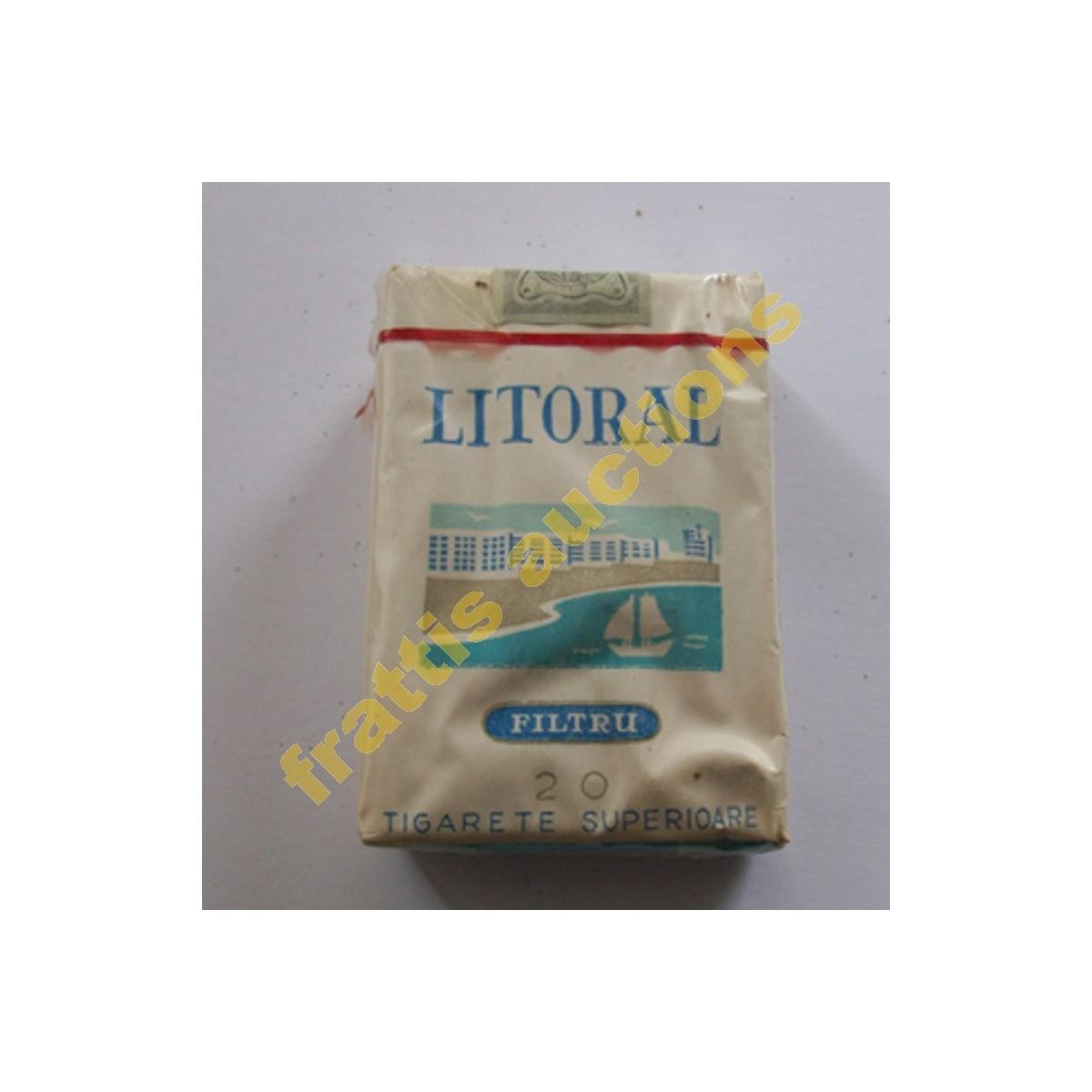 Χάρτινο πακέτο των 20 τσιγάρων LITTORAL, Βουκουρέστι.