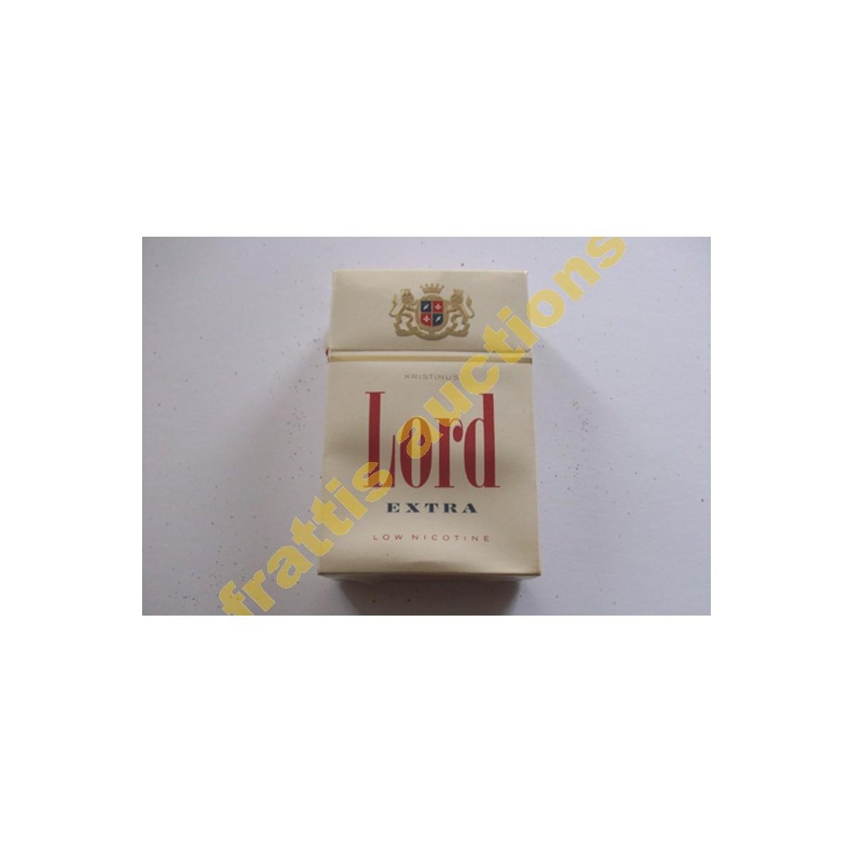 Χάρτινο πακέτο των 20 τσιγάρων LORD Extra. Γερμανία.