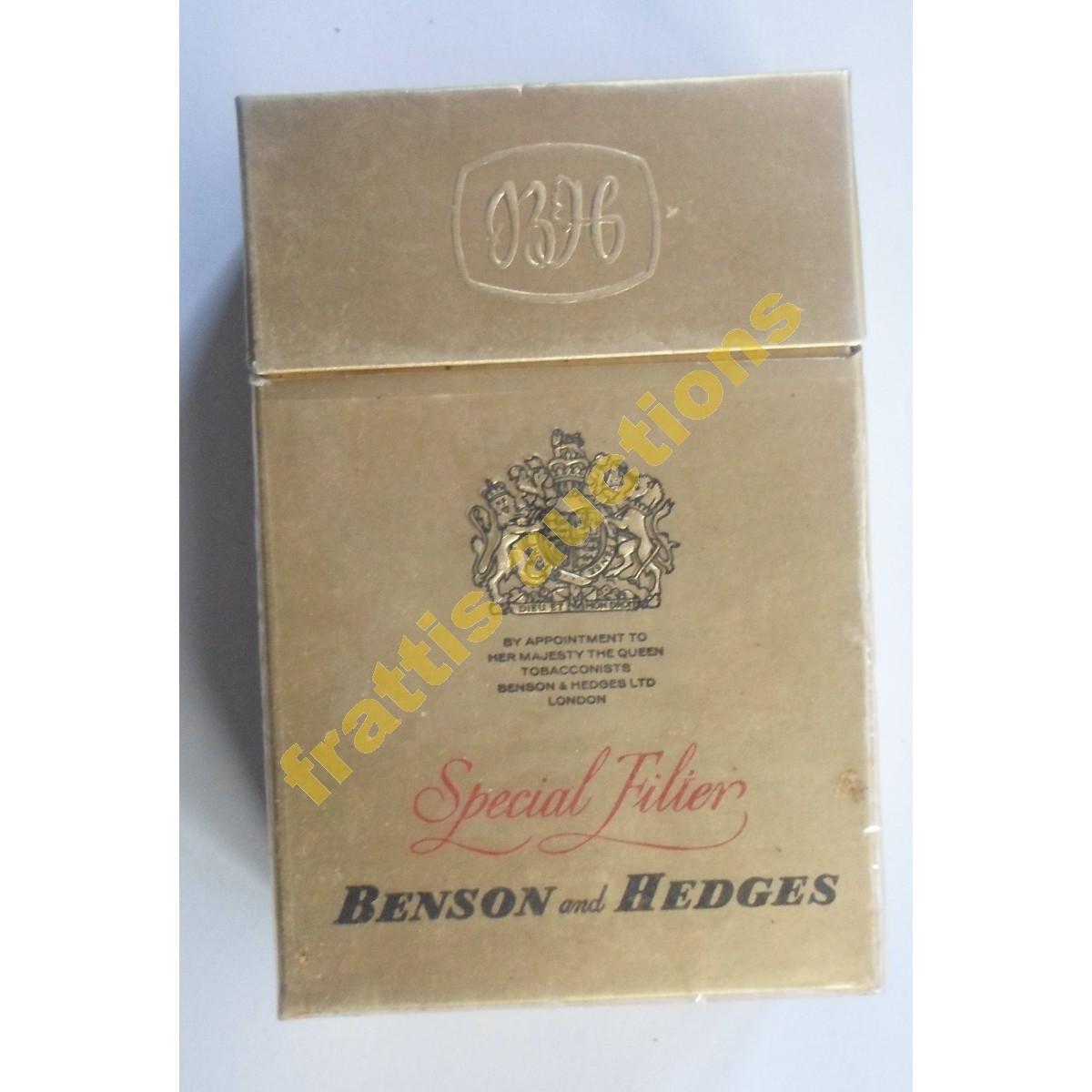 Χάρτινο πακέτο των 20 τσιγάρων BENSON and HEDGES. Αγγλία.