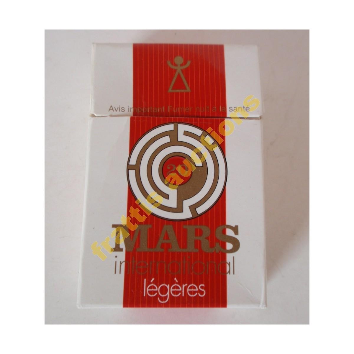 Χάρτινο πακέτο των 20 τσιγάρων MARS international legeres. Τυνησία.