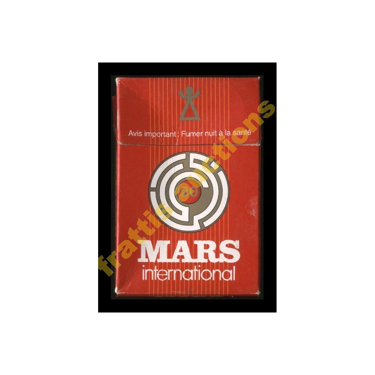 Χάρτινο πακέτο των 20 τσιγάρων MARS international. Τυνησία.