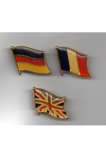 3 pins, σημαίες κρατών.