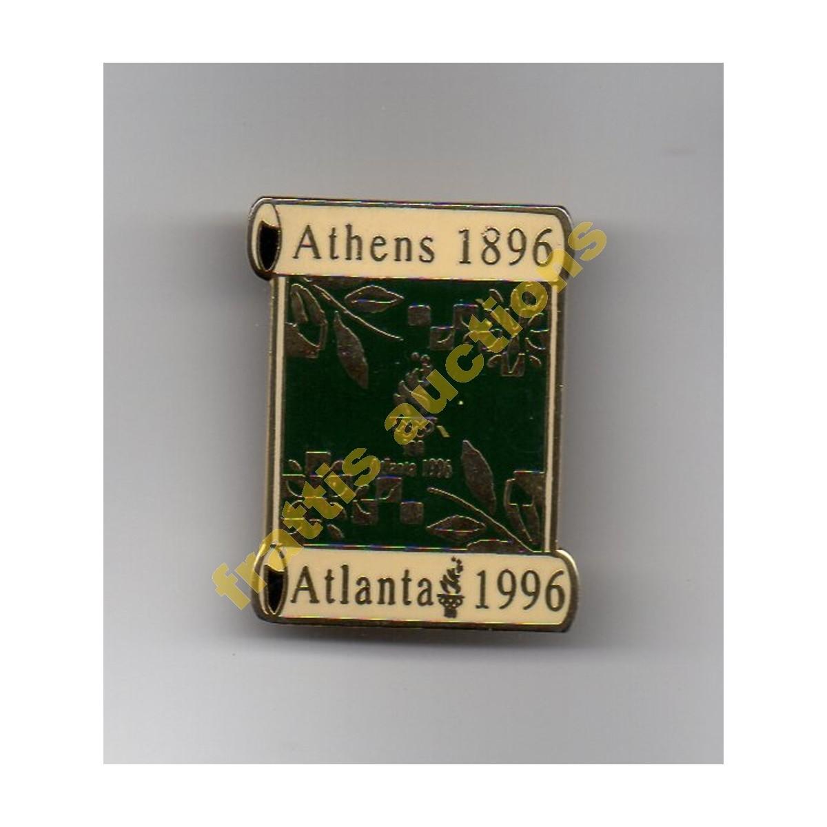 Pin , ολυμπιακή φλόγα Αθήνα 1896- Ατλάντα 1996.