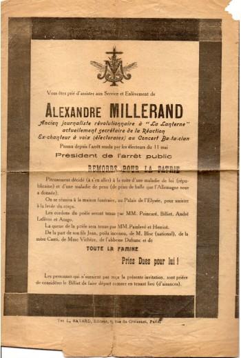Alexandre Millerand...
