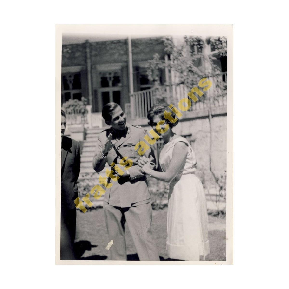 Φωτογραφία του διαδόχου Κωνσταντίνου με την Βασ. Σοφία.