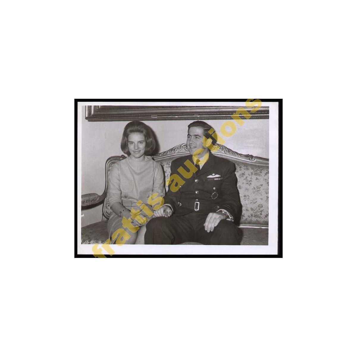 Φωτογραφία του Βασιλέως Κωνσταντίνου ΙΙ και Άννα-Μαρίας.