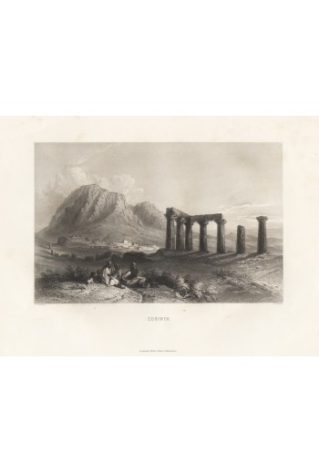 Corinth, λιθόγραφο.