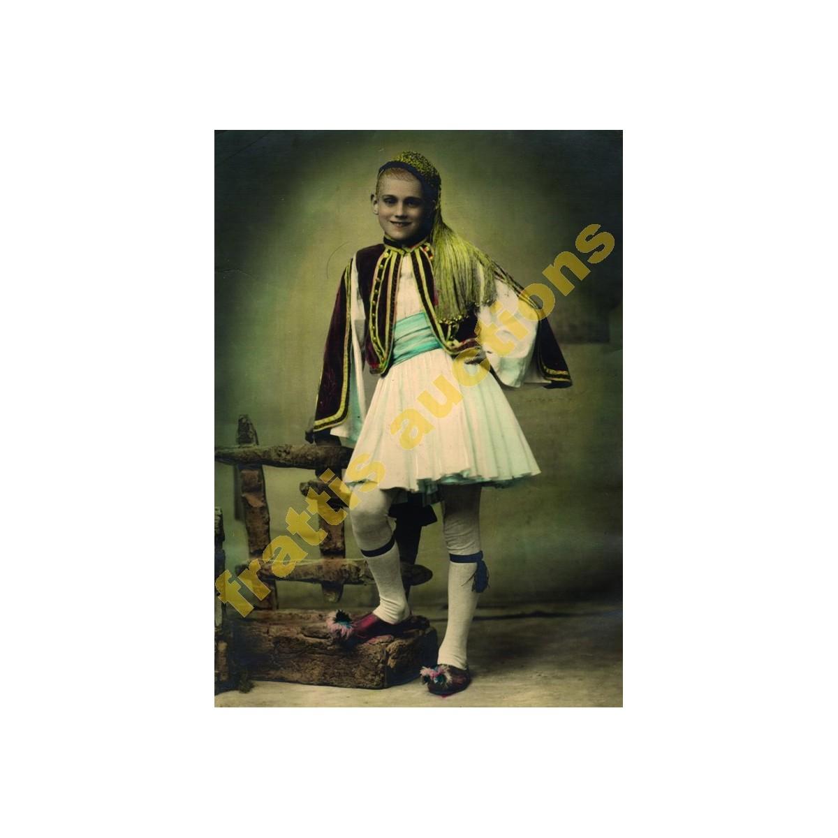 Ζημέρης, επιχρωματισμένη φωτογραφία του 1950.