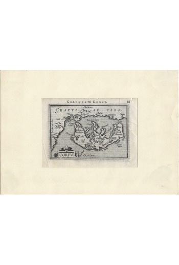 Corfu, χάρτης.