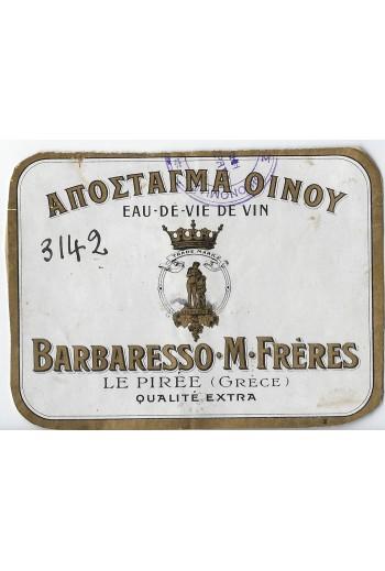 BARBARESSO M. FRERES, ετικέτα