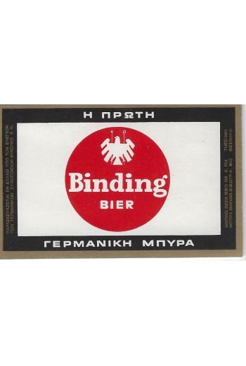 BINDING BIER, ετικέτα