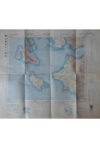 Κεφαλονιά, χάρτης
