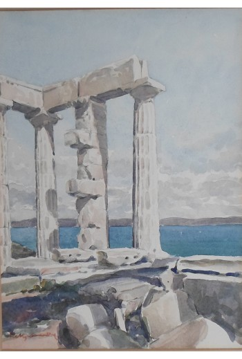 E.Manamy, Greek ruins above...
