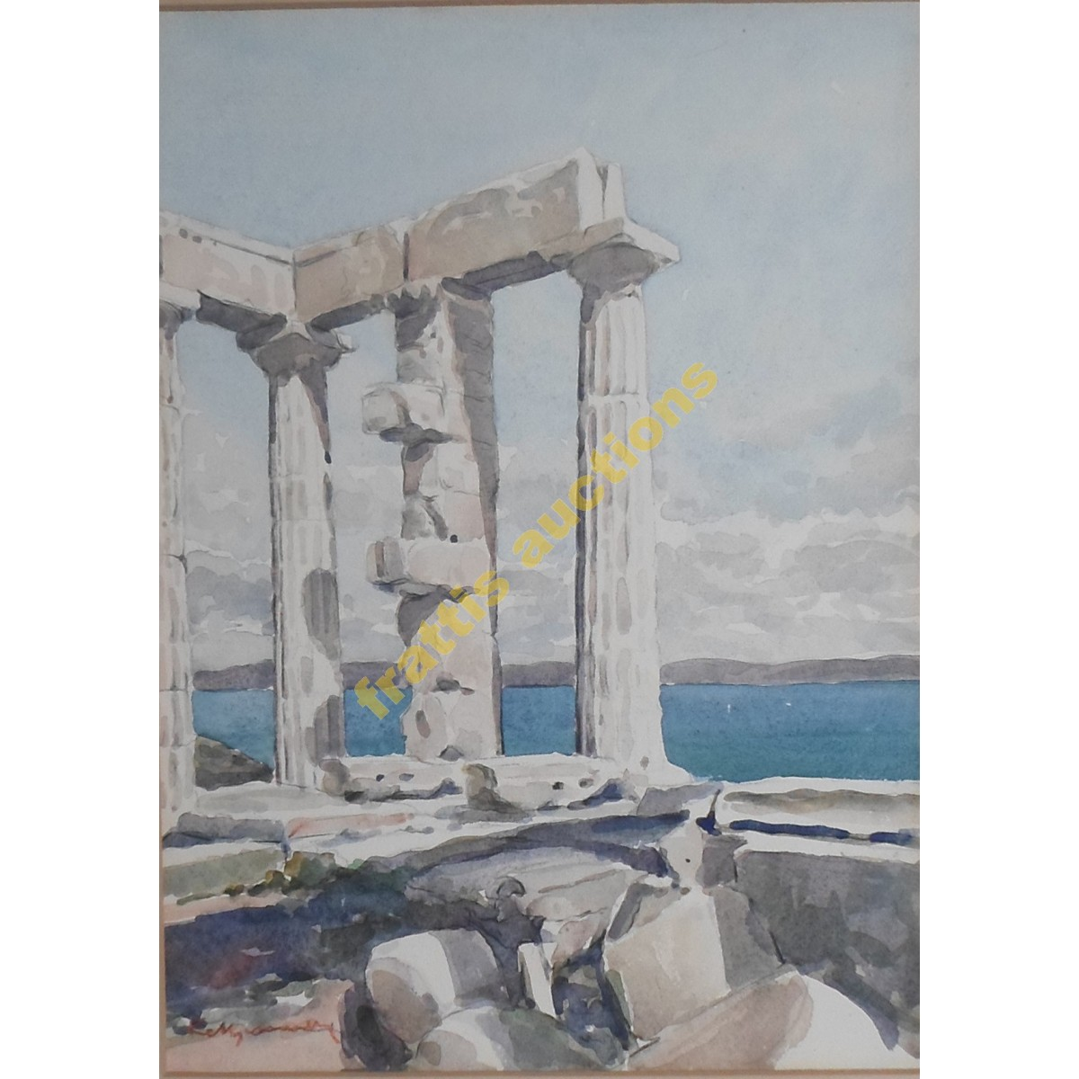 E.Manamy, Greek ruins above a bay