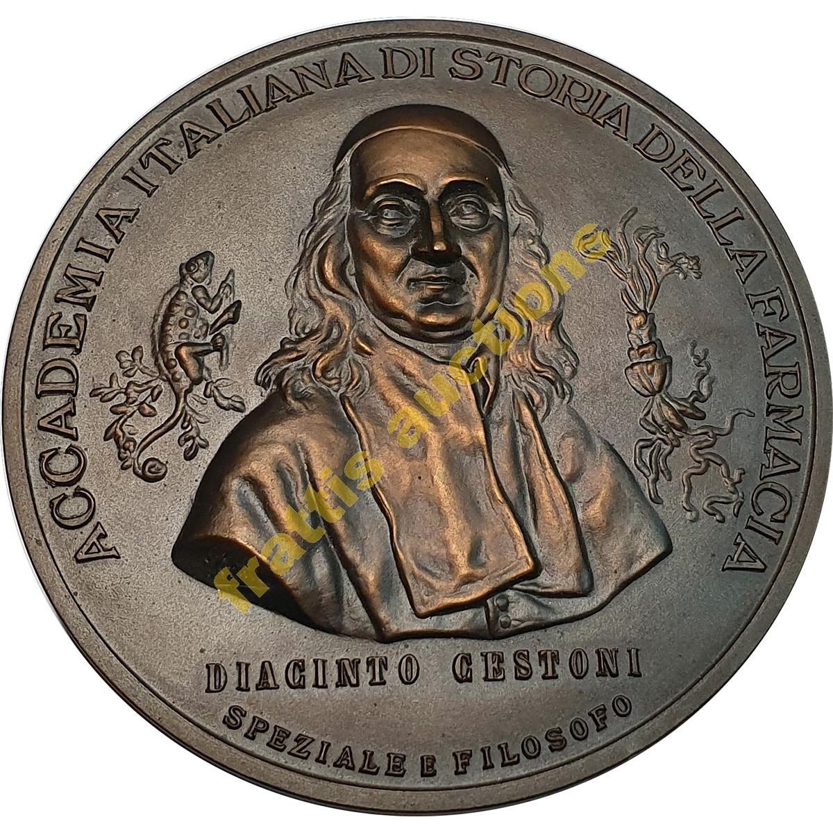 Diacinto Cestoni,Academia Italiana Di storia della Farmacia, μετάλλιο
