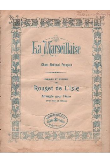 La Marseillaise, παρτιτούρα.