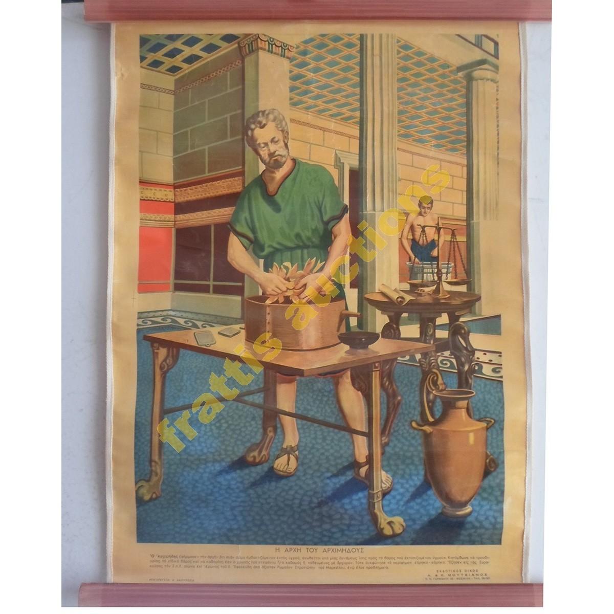 Η αρχή του Αρχιμήδους, σχολικό poster.1950